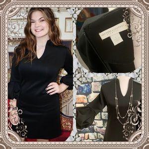 🏙 NY&CO Black Puffy Sleeved Dress - Size Small